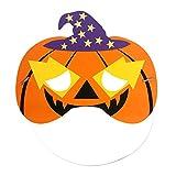 SJZC Maske Halloween Cosplay Cartoon-Muster Papier Masken Geheimnisvoll Kind Augenmaske,Pumpkin