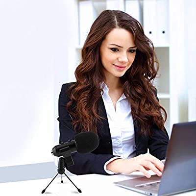 5Pcs/Set Condenser Sound Recording Speaking Speech Microphone Independent Audio Card Free Microphone With Tripod MK-F100TL