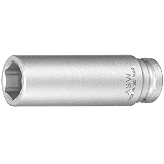ASW 70060 Long Impact Socket with Spring Loaded Magnet, Silver, 1/4-Inch Hex 7 mm