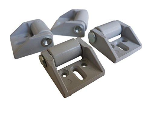 Mini-Lenkrollen im Set, schwenkbar, 4-mm-Kunststoff-Gummirollen mit Metallplatte, für Möbel und Ausrüstung -