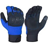 Jet Guantes Moto Motocicleta Verano Protecciones Ventilación ECCO (XL, Azul)