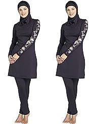 Femme Plus Taille Imprimé floral maillots de bain musulman arabe islamique Maillot de bain femme musulmane hijab Bain pour pièces