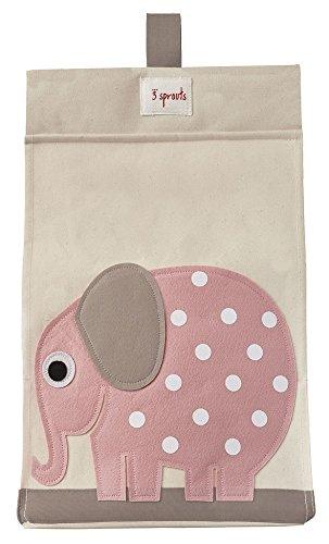 Porta Pannolini Universale in Cotone - Elefante Rosa
