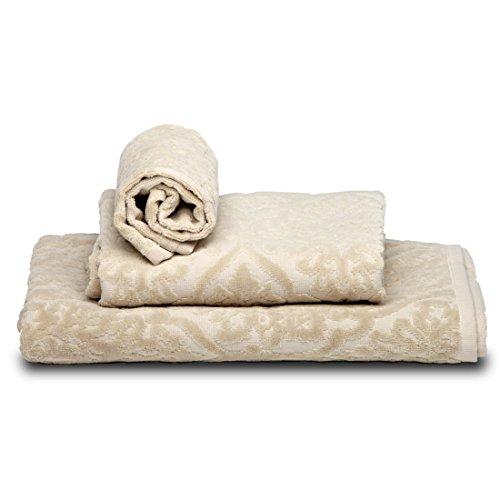 Burrito Blanco - Juego toallas 101 Beige 30x50, 50x100
