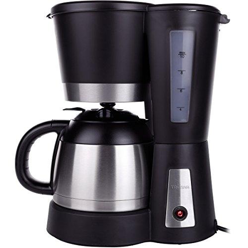 Kaffeemaschine mit Isolierkanne 10 Tassen Permanentfilter 230V/800W - Camping Edelstahl 1 Liter Kaffeekocher Thermoskanne Wohnmobil