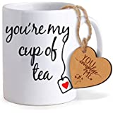 TIED RIBBONS Valentine Gifts for Boyfriend Coffee Mug(325ml) with Heart Shaped Wooden Engraved Tag