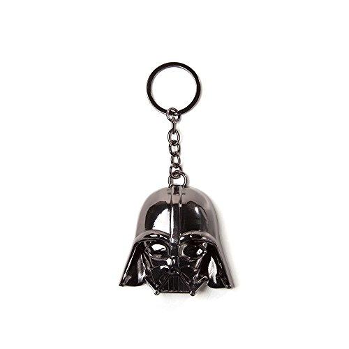 Bioworld Star Wars Darth Vader Maske 3D Anhänger Metall Schlüsselanhänger, One Size, Schwarz (Ke150701Stw) Schlüsselanhänger, 16 cm, Multi