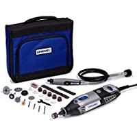 Dremel 4000 Rotary Tool 175 W, Rotary Multi Tool Kit with 1 Attachment 45 Accessories, Variable Speed 5000-35000 rpm for Cutting, Carving, Sanding, Drilling, Polishing, Routing, Sharpening, Grinding