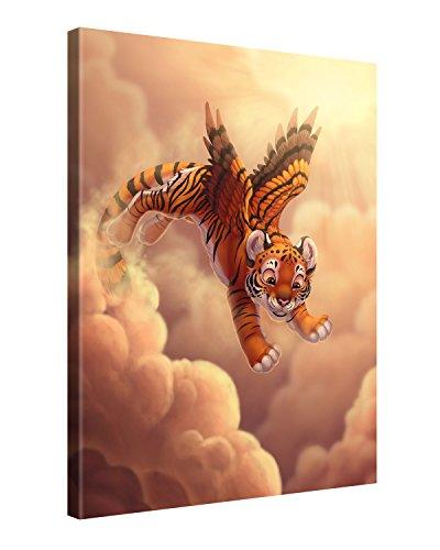 Preisvergleich Produktbild Gallery of Innovative Art - Kids Selection - Cloud Jumping - 75x100cm - XXL Leinwand-Druck in deutscher Marken-Qualität - Leinwand-Bilder auf Holz-Keilrahmen als moderne Wohnzimmer-Deko