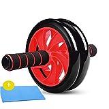 GWM Staffa Push-up Ruota Fitness per Esercizio Addominale - Ab Roller Wheel Trainer - Attrezzatura per Allenamento Addominale Fitness con impugnature Easy Grips per Uomo Donna