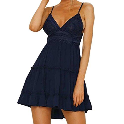 66120433978 Damen Kleider Frauen Dress Sommerkleider Ärmelloses Spitzenkleid A Line Vintage  Partykleid Cocktailkleid Rockabilly Kleid Lace Short