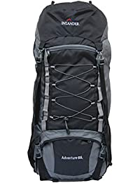 INLANDER 6001 Black 60L Rucksack Daypack Backpack Bag for Travel Hiking Trekking & Camping for Men & Women