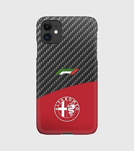 Custodie Carbon F1 Alfa Romeo per iPhone 12mini, 12, 12 pro, 12 pro max, 11, 11 pro, 11 pro max, XS, X, X max, XR, SE, 7+, 8, 7, 6+, 6, 5