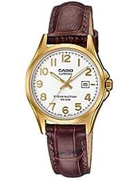 f54842f71def CASIO Reloj Analógico para Mujer de Cuarzo con Correa en Cuero  LTS-100GL-7AVEF