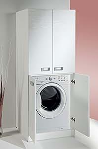 Meuble pour machine laver avec tag re de rangement - Meuble machine a laver encastrable ...