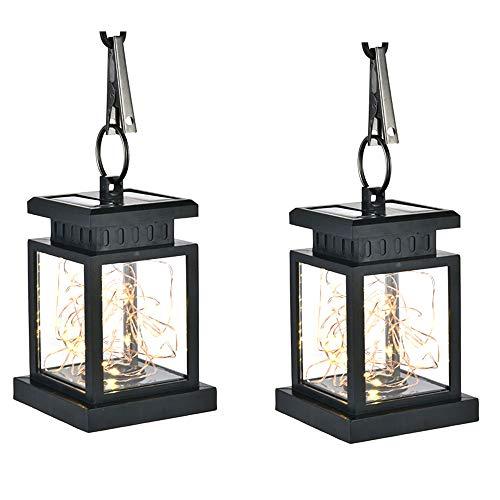 LED Solar Jar Deckel Clip Licht, 2 Modi ABS + PC Lichterkette Outdoor Hot White Lichter String Party Hochzeit Deck Veranda Garten Dekorative Beleuchtung 2Pcs,2Pcs