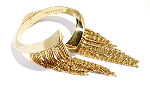 sarah-magid-yellow-gold-plated-electric-fringe-cuff