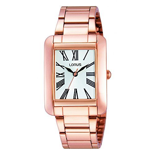 Lorus White Dial Rose Gold Plated Stainless Steel Bracelet Ladies Watch RRS78UX9