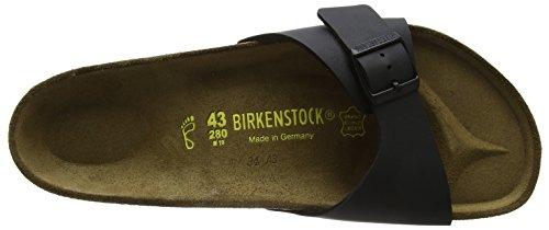 Birkenstock Classic Madrid Birko-Flor Unisex-Erwachsene Pantoletten Schwarz (Schwarz)