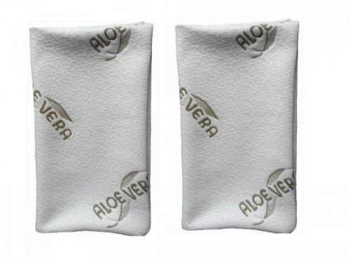 Confezione doppia di federe con aloe vera–anallergiche, 40x 80cm
