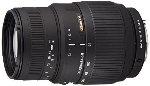 Sigma70-300mm F4-5.6 DG Macro - Objetivo para cámara réflex (distancia focal 70-300mm , apertura f/4-32, macro, tamaño de filtro: 58mm) para Pentax color negro