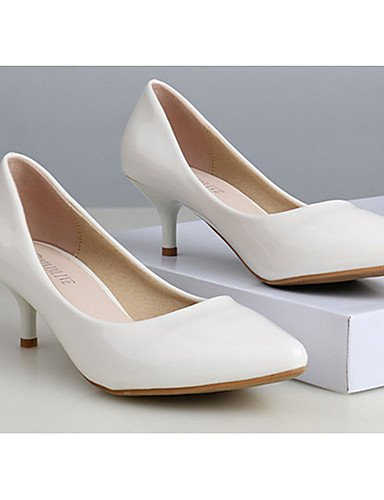 WSS 2016 Chaussures Femme-Décontracté-Noir / Rose / Blanc-Talon Aiguille-Talons-Talons-PU pink-us7.5 / eu38 / uk5.5 / cn38