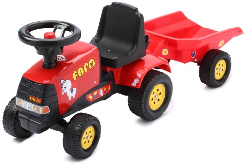 Falk 972B - Trattore giocattolo Farm Pony con rimorchio