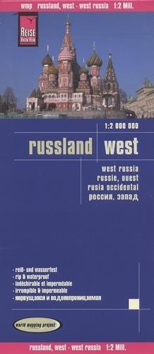 Rusia, zona europea. Mapa de carreteras impermeable. Escala 1:2.000.000. Reise Know-How.