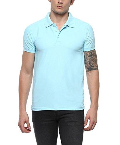 American Crew Men's Polo Collar Plume Blue T-Shirt - M (AC042-M)
