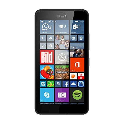 Microsoft Lumia 640 XL Dual-SIM LTE Smartphone (14,5 cm (5,7 Zoll) HD-LCD-Display, 1,2-GHz-Quad-Core-Prozessor, 13 Megapixel-Kamera, 3000 mAh Akku, 3G & 4G LTE, Dual-SIM, Windows Phone 10) schwarz