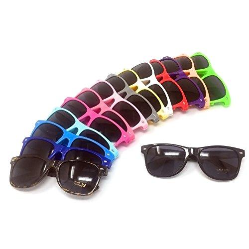 Black Lens Classic Sunglasses - Style Unisex Shades UV400 Protective Mens Ladies