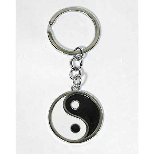 Yin Yang Schlüsselanhänger Schlüssel Anhänger schwarz weiss Feng Shui Ying (Anhänger Schüssel Schwarze)