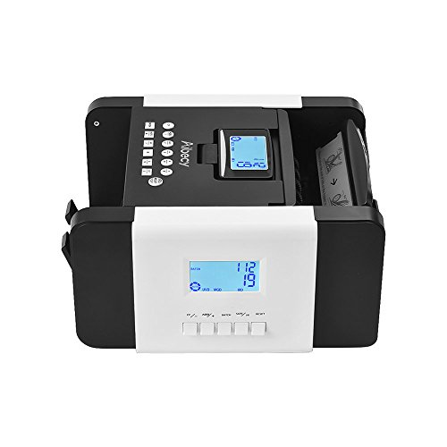 Decdeal Aibecy Dual LED Display Multi-Currency Banknote Counter Money Cash Bill Counting Machine UV/MG/MT/IR/DD Counterfeit Detection for USD Euro Pound BRL Ruble AUD HKD Yen