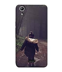 Snapdilla Designer Back Case Cover for Micromax Canvas Selfie 2 Q340 (Landscape Happy Fall Walking Park )