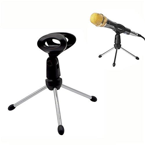 Trípode de mesa para Micro/Soporte de micrófono de escritorio ajustable portátil plegable
