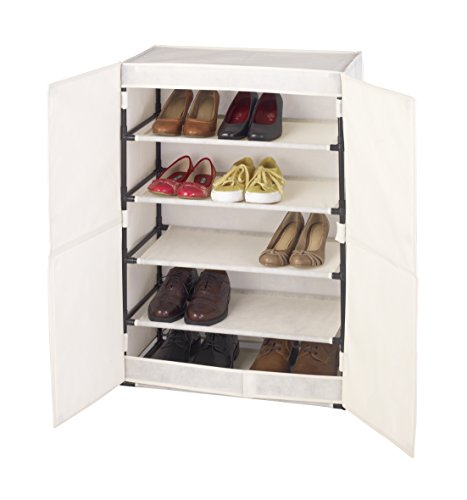 Wenko 64010100 Armoire à Chaussures, 15 Paires 61x32x90 cm Butterfly