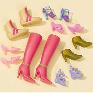 Schuh-und Stiefel-Set für Barbie, 4-fach sortiert