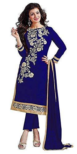 Tiludi Women\'s Cotton Salwar Suit (EW0004_W_SALWAR SUIT_Blue_Free Size)