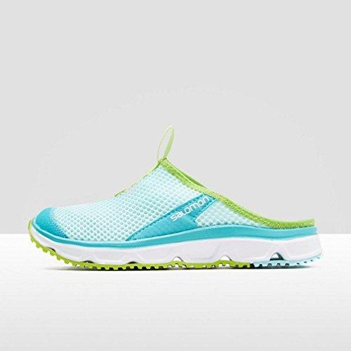 Salomon Damen L39244800 000 Traillaufschuhe Blau (Aruba Blue/white/lime Green)