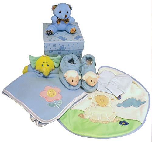 Panier de naissance pour bébé dans une boîte à souvenirs Confort Couverture chaussons Gants & Bavoir