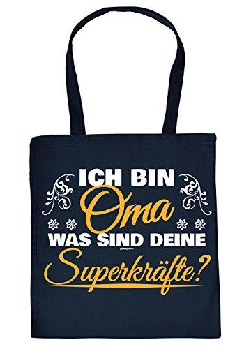 prüche-Tasche Thema Familie/Oma: Ich Bin Oma was sind Deine Superkräfte - geniale Geschenkidee ()