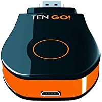 TenGO GoCast Mirroring - Router WiFi (Dongle, Flash, 1 GB, AirPlay), color negro y naranja