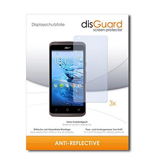 disGuard® Bildschirmschutzfolie [Anti-Reflex] kompatibel mit Acer Liquid Z410 Plus [3 Stück] Entspiegelnd, Matt, Antireflektierend, Extrem Kratzfest, Anti-Fingerabdruck - Panzerglas Folie, Schutzfolie