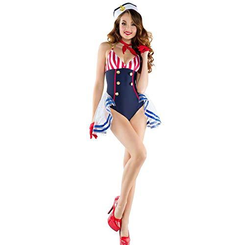 GAOJUAN Halloween Cosplay Kostüm Erwachsene Cosplay Marine Uniform Prinzessin Kleid Sailor Wear Kostüm Geeignet Für Karneval Thema Parteien Halloween Neujahr Festival