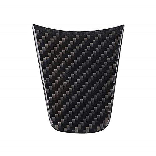 iBàste for Tesla Model 3 Car Steering Wheel Cover Stickers Carbon Fiber Stickers