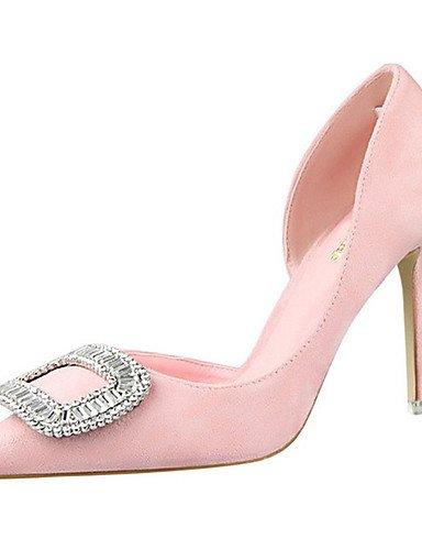 WSS 2016 Chaussures Femme-Décontracté-Noir / Rose / Rouge / Gris-Talon Aiguille-Talons-Talons-Laine synthétique pink-us8 / eu39 / uk6 / cn39
