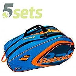 Babolat RH Club Padel WPT- Paletero para padel, azul y naranja, 60 x 30 x 33.5 cm, 42 L