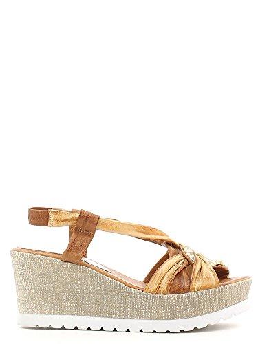 Grunland SA1016 Sandalo zeppa Donna Beige
