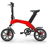 Bicicleta Plegable para Adultos 12 Pulgadas, Batería De Litio 36V Plegable Scooter Eléctrico