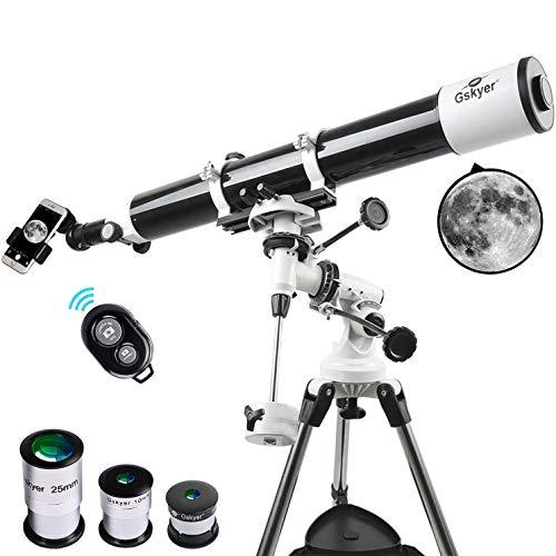 Gskyer EQ 80900 Telescopio con tecnología Alemana, refractores Starwatcher
